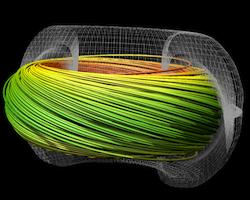 Streamline Integration using MPI-Hybrid Parallelism on a Large, Multi-Core Architecture